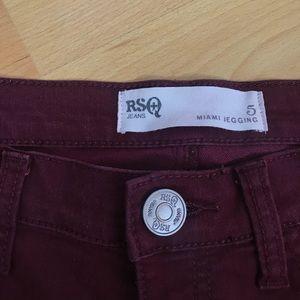 Maroon Pants Skinny